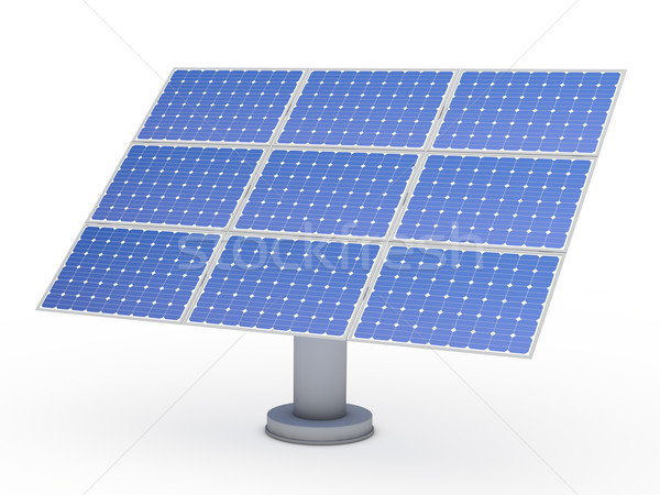 3d solar blue energy photovoltaic  Stock photo © dariusl