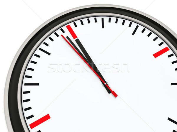 Clock one minute for twelve Stock photo © dariusl