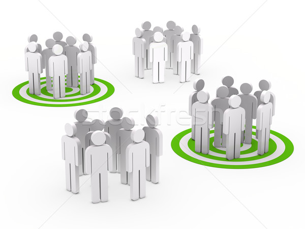 teamwork group circle green tarbet Stock photo © dariusl