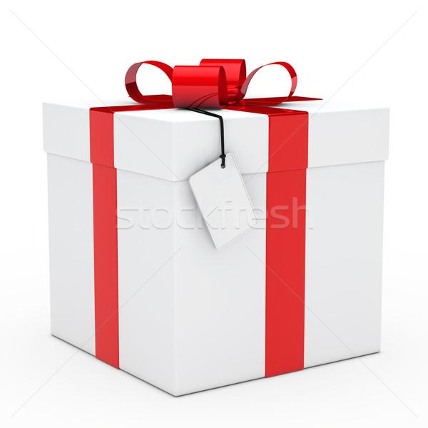 Geschenkdoos christmas witte verjaardag vak Stockfoto © dariusl