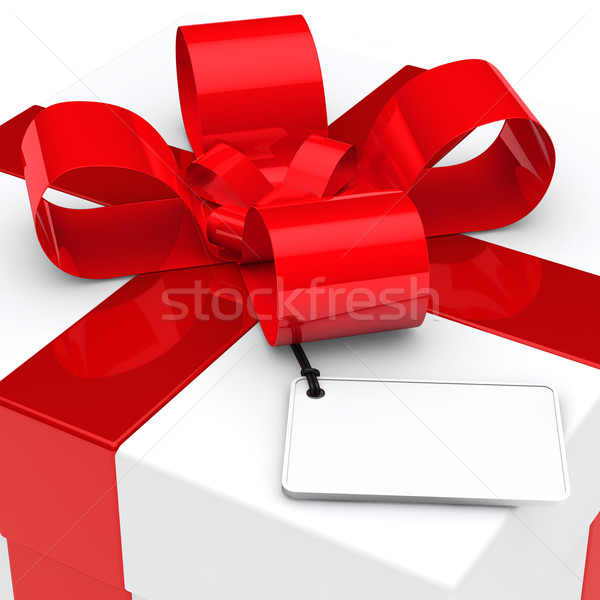 gift box red ribbon Stock photo © dariusl