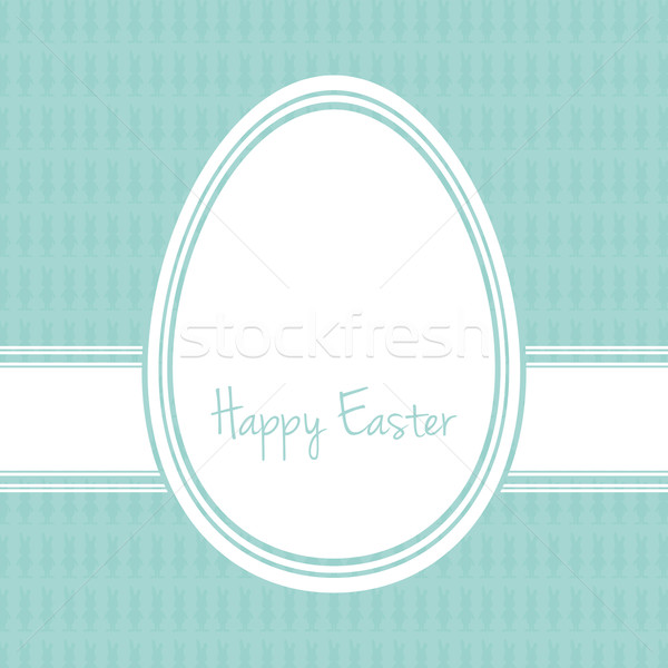 Христос воскрес яйцо белый синий Bunny Пасху Сток-фото © dariusl