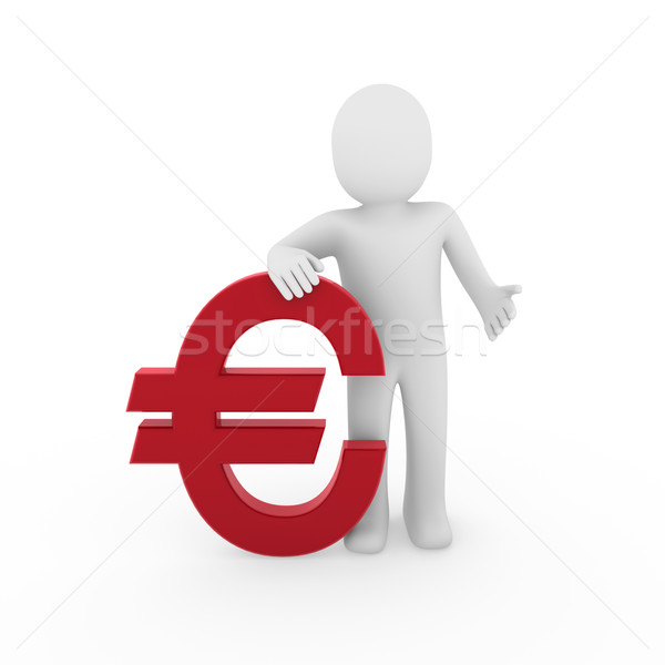 3d human euro Stock photo © dariusl
