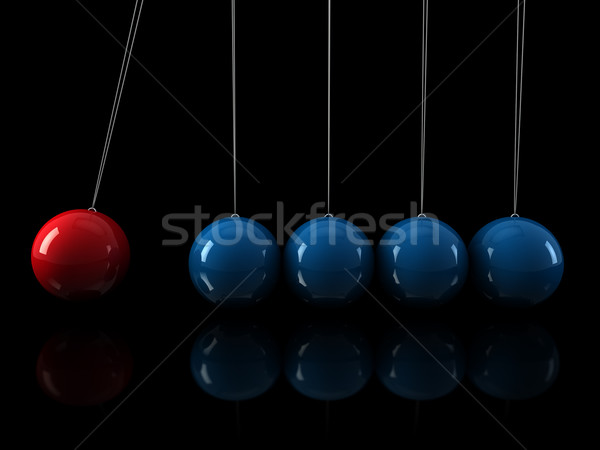 3d red blue pendulum Stock photo © dariusl
