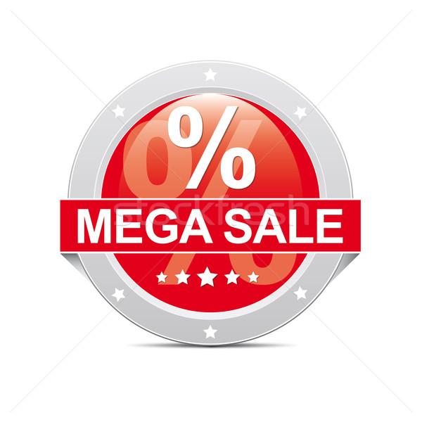 как продажи кнопки красный икона процент Сток-фото © dariusl