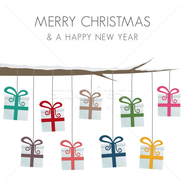 gift boxes hang on twine Stock photo © dariusl
