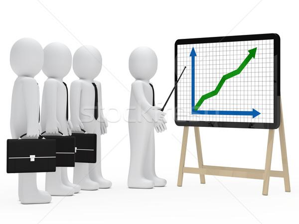 Işadamı grafik göstermek büyüme iş Stok fotoğraf © dariusl