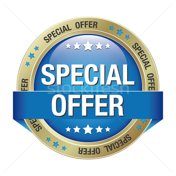 special offer blue gold button Stock photo © dariusl
