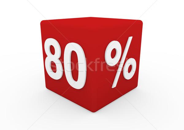 3D красный белый продажи куб до 80 Сток-фото © dariusl