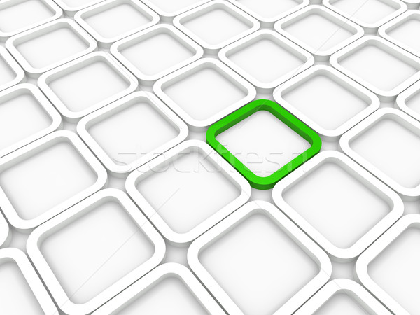 3D cube vert blanche structure ordinateur Photo stock © dariusl