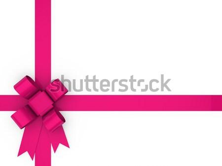 3D laço rosa dom fita natal Foto stock © dariusl