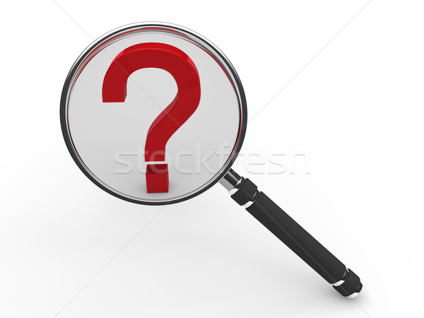 3d red guestion mark magnifying glass  Stock photo © dariusl