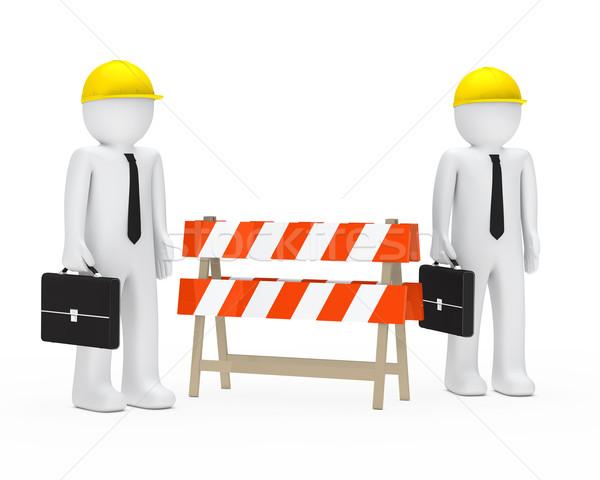 businessmen barrier Stock photo © dariusl