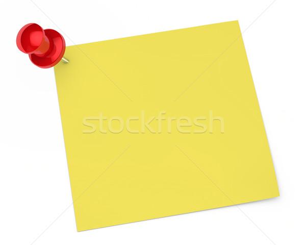 Pin carta da lettere rosso bianco business spazio Foto d'archivio © dariusl