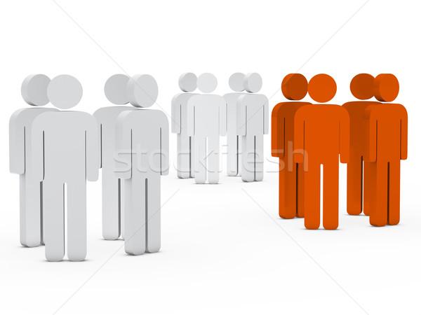 team people group white orange Stock photo © dariusl