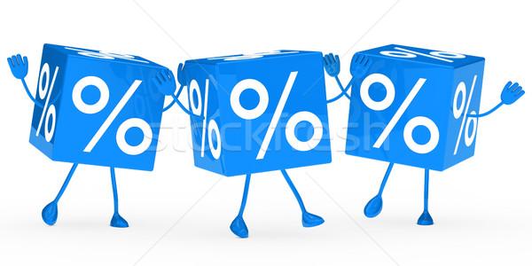 blue sale cubes wave Stock photo © dariusl