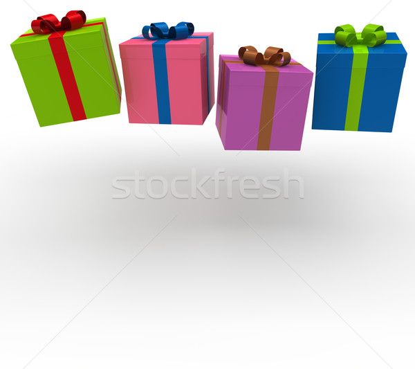 3d gift box fall Stock photo © dariusl