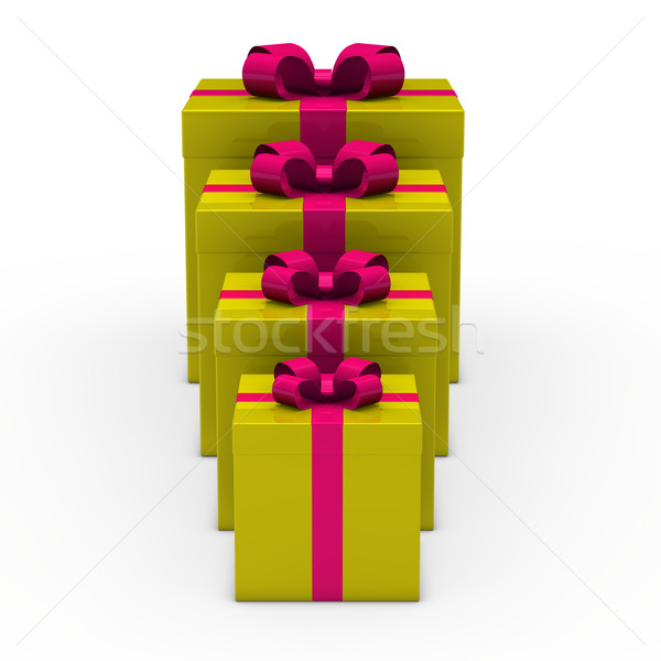 3D zielone dar mały duży złota Zdjęcia stock © dariusl