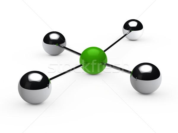 Leadership concept with green sphere Stock photo © dariusl