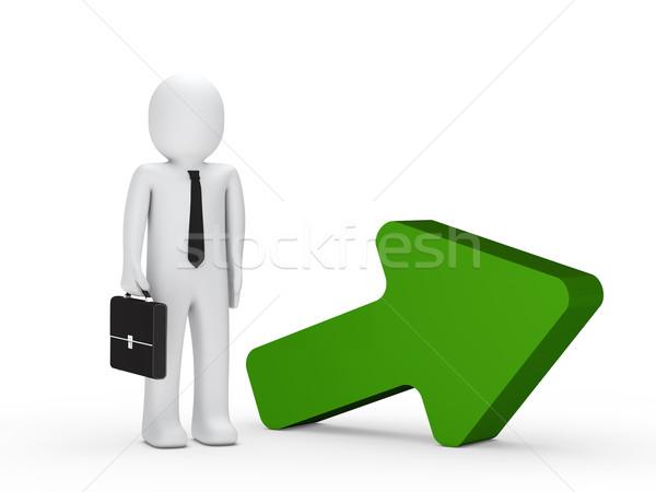 businessman with green arrow Stock photo © dariusl
