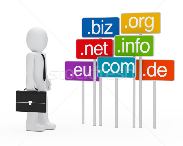 businessman domain signboards Stock photo © dariusl