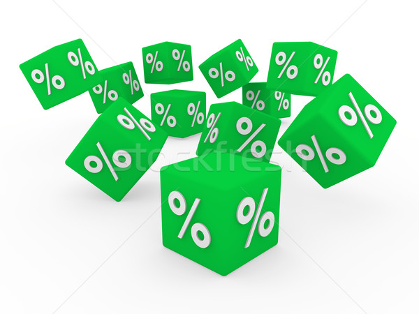 3d sale cube Stock photo © dariusl