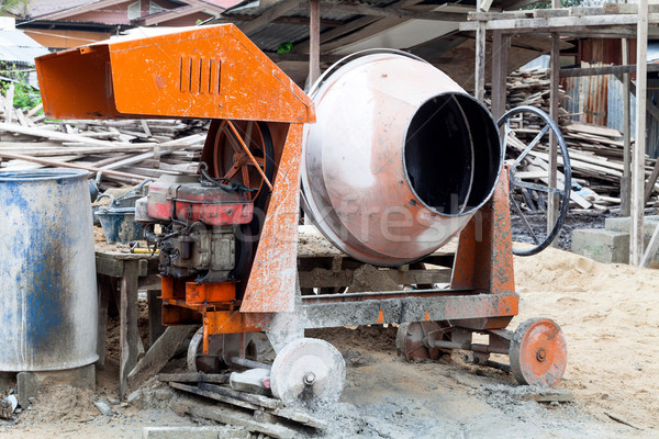 portable concrete mixer Stock photo © darkkong