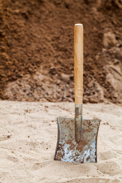 shovel on the ground Stock photo © darkkong