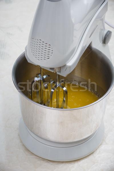 Foto stock: Mantequilla · huevo · cocina · herramienta · mezclador · amarillo