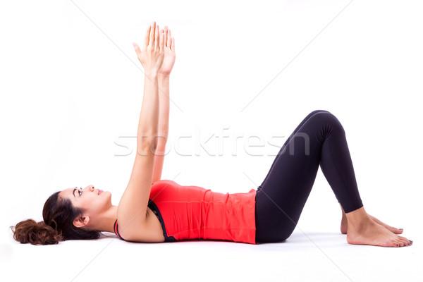 Pilates azione donna ragazza donne felice Foto d'archivio © darkkong