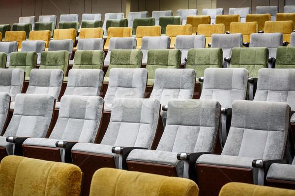 Stoel vacant theater hal film concert Stockfoto © darkkong