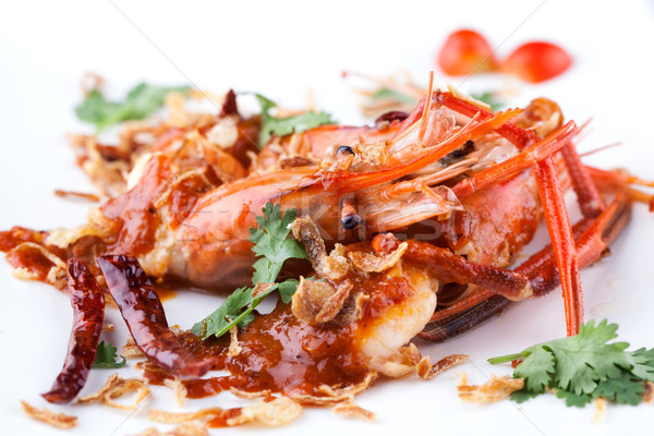 fried prawn with tamarine sauce  Stock photo © darkkong