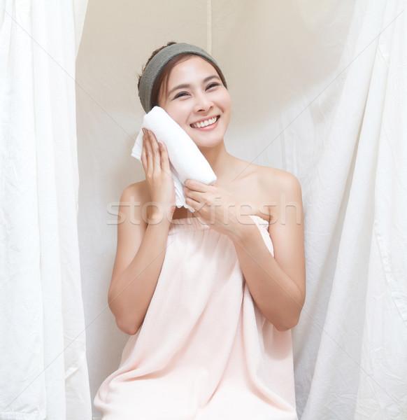 アジア 少女 スパ 美しい 蒸気 テント ストックフォト © darkkong