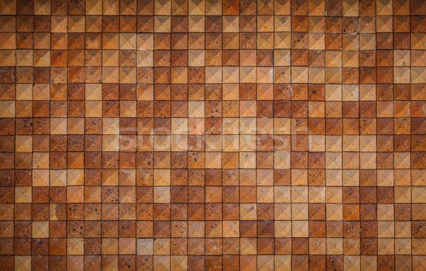 Foto stock: Azulejo · pared · naranja · casa · diseno