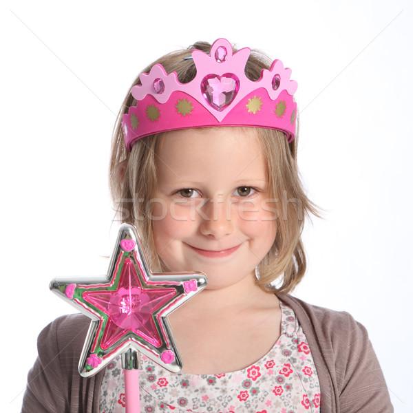 Fiatal lány tündér hercegnő jelmez jelmez vásár Stock fotó © darrinhenry