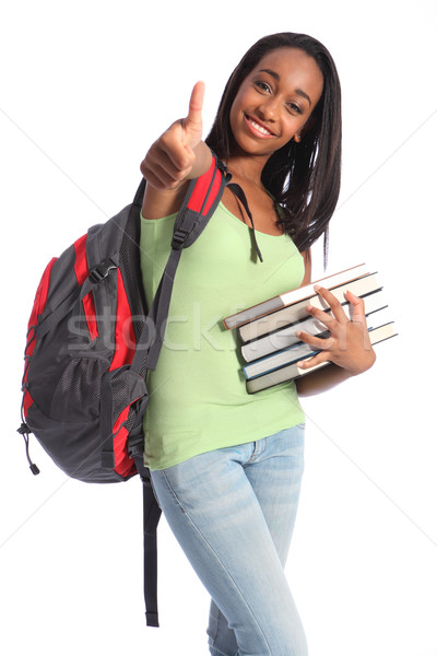 Education success African American teenager girl Stock photo © darrinhenry