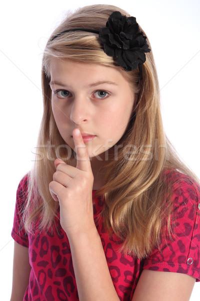 Spaventato bambino tranquillo segno guardare Foto d'archivio © darrinhenry