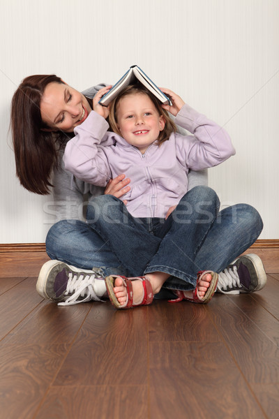 Mother daughter education fun learning to read Stock photo © darrinhenry