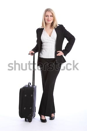 Business travel for beautiful young blonde woman Stock photo © darrinhenry
