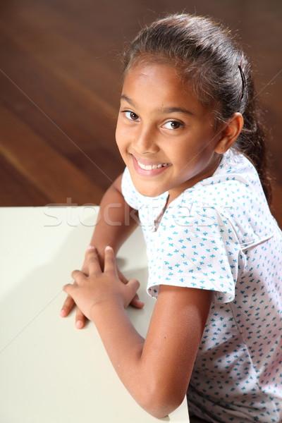 Portre güzel gülümseme genç sınıf Stok fotoğraf © darrinhenry