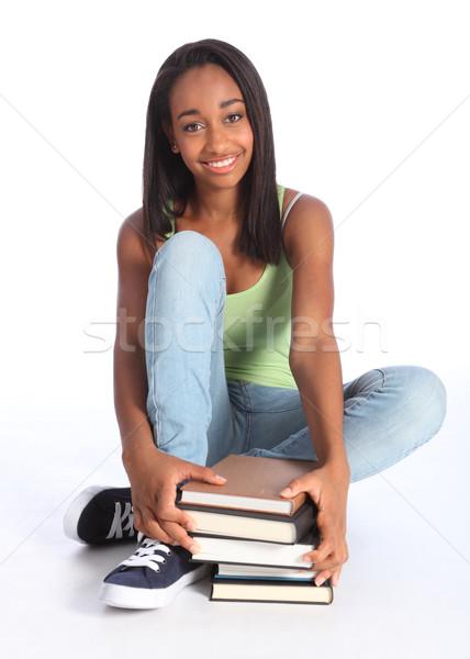 красивой черный школы книгах образование Сток-фото © darrinhenry
