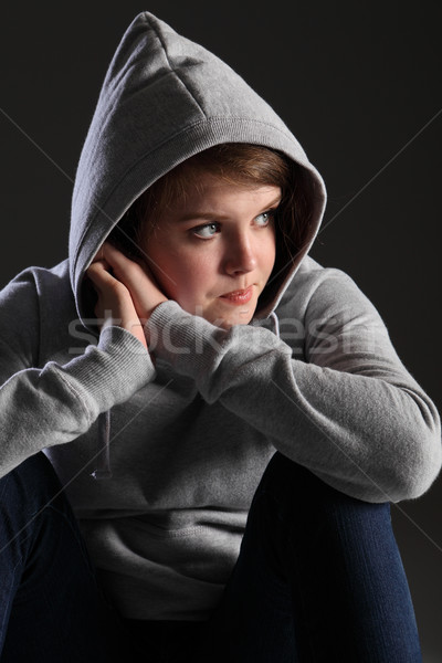 Girl with teenager issues sad alone and stressed Stock photo © darrinhenry