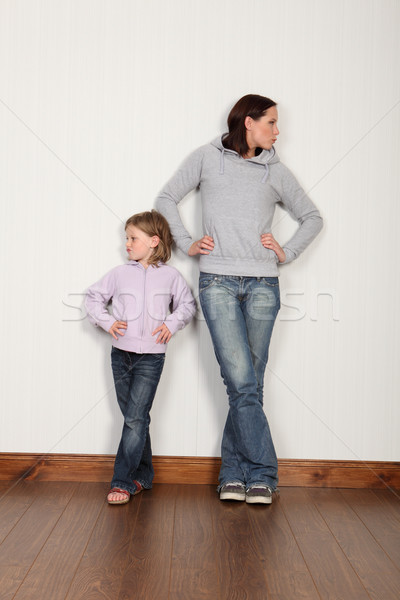 Mother daughter dispute not speaking and angry Stock photo © darrinhenry