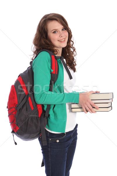 Escuela secundaria feliz educación adolescente nina Foto stock © darrinhenry