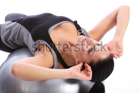 Abdominale entraînement femme estomac exercice Photo stock © darrinhenry