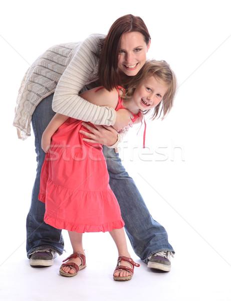 Matka córka miłości szczęśliwy zabawy śmiech Zdjęcia stock © darrinhenry