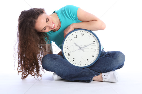 Sit down relaxing time for beautiful happy woman Stock photo © darrinhenry
