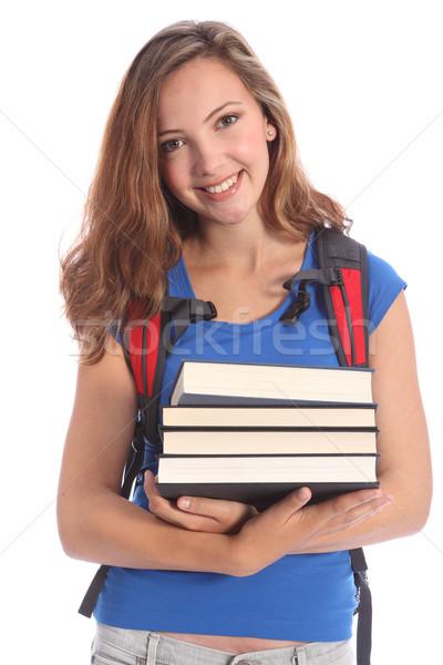 Beautiful high school teenage girl in education Stock photo © darrinhenry