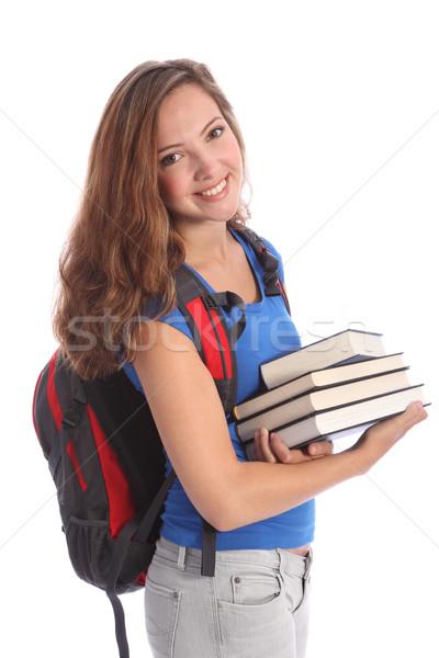 School student meisje onderwijs boeken Stockfoto © darrinhenry