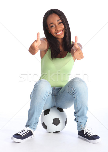 Foto stock: Adolescente · esportes · menina · dois · feliz